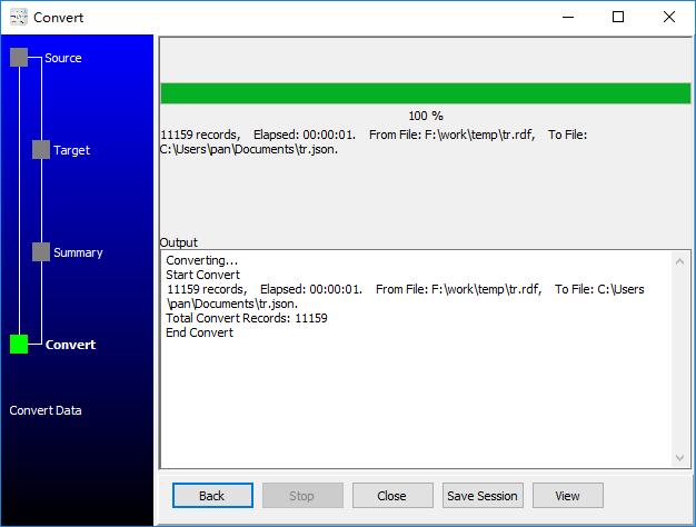 convert XML format RDF file to Json file - convert to Json file