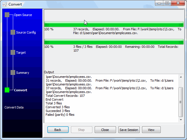 Merge multiple CSV files to one CSV file - combine files