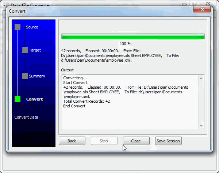 convert Excel file to Xml file - convert file