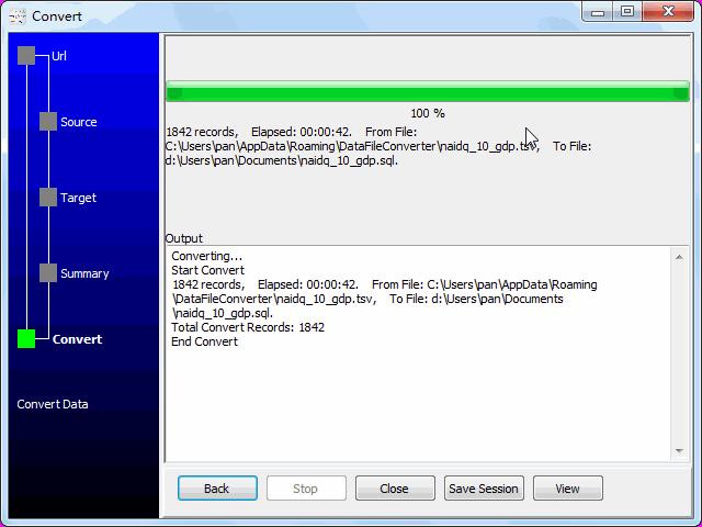 convert online TSV file to SQL file - convert to SQL file
