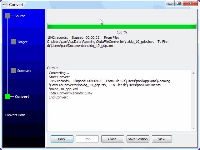 convert online TSV file to XML file - convert to XML file