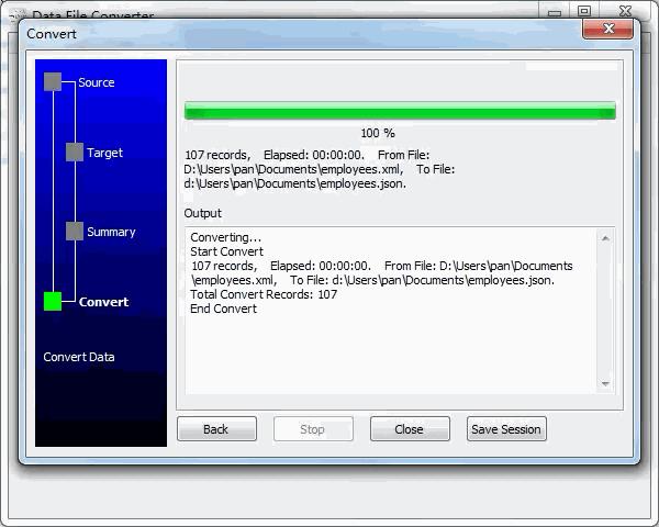 convert Xml file to Json file - convert file