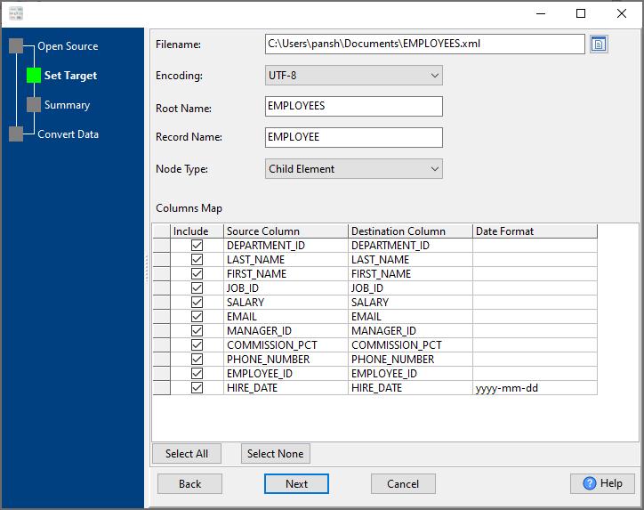 convert Excel file to Xml file - config Xml file
