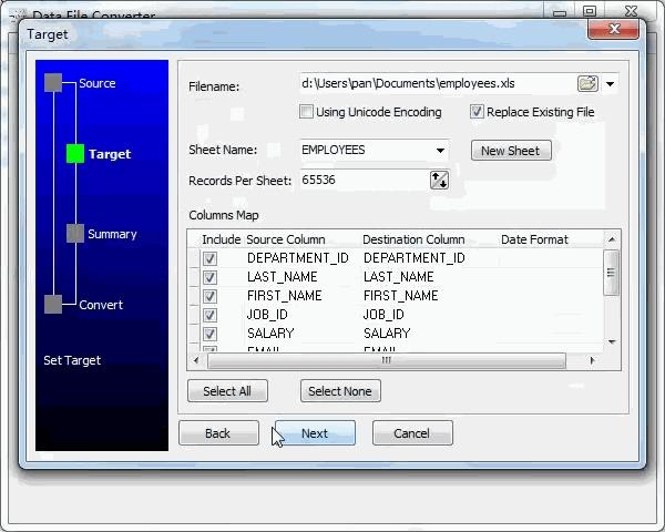 convert Json file to Excel file - config Excel file