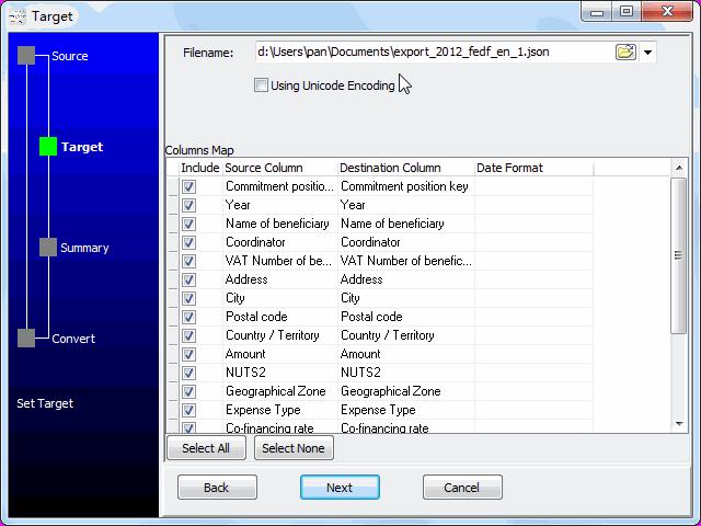 convert online EXCEL file to JSON file - config JSON file