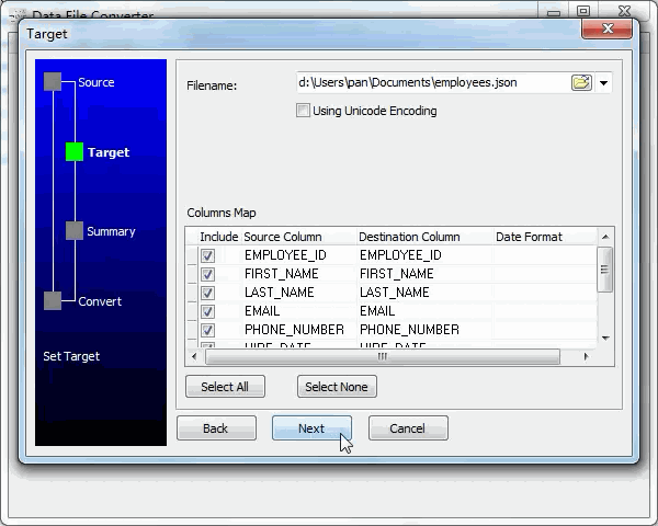 convert Xml file to Json file - config Json file