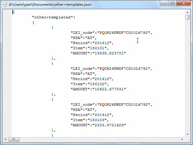 convert online CSV file to JSON file - view  JSON file