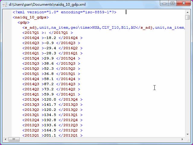 convert online TSV file to XML file - view  XML file