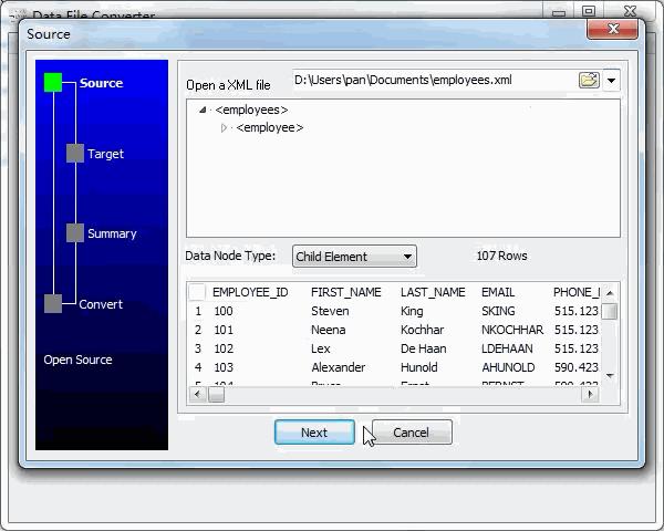 convert Xml file to Json file - open a Xml file