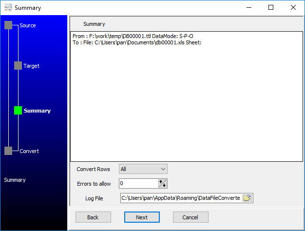 convert RDF Turtle file to Excel file - summary