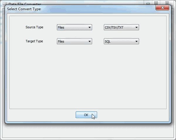 batch convert Csv files to Sql files - select type