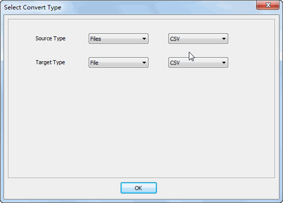 Merge multiple CSV files to one CSV file - select type