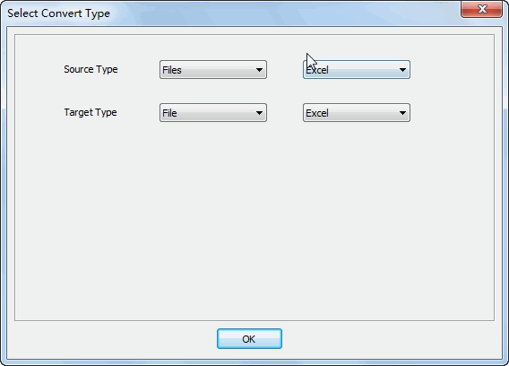 Merge multiple EXCEL files to one EXCEL file - select type
