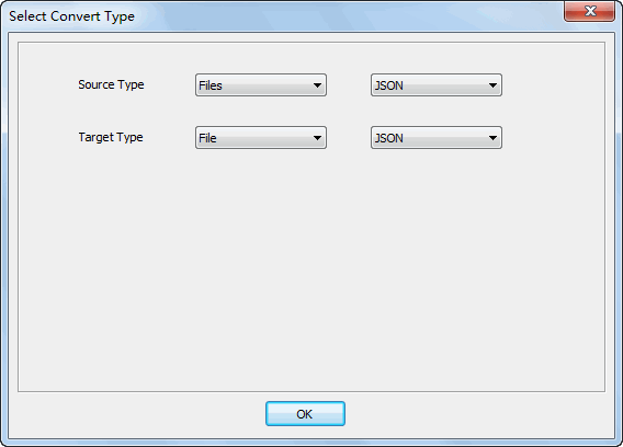 Merge multiple JSON files to one JSON file - select type