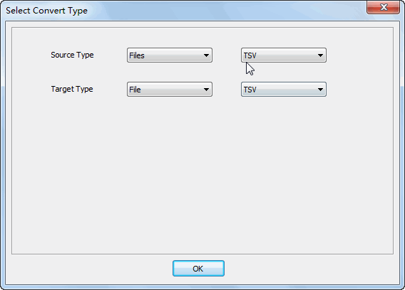 Merge multiple TSV files to one TSV file - select type