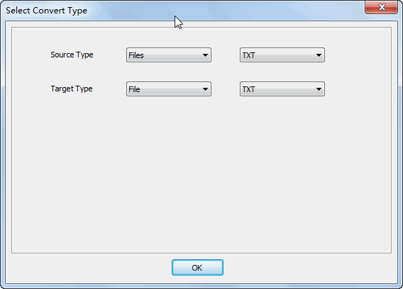 Merge multiple TXT files to one TXT file - select type