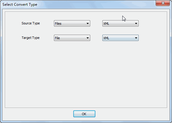 Merge multiple XML files to one XML file - select type