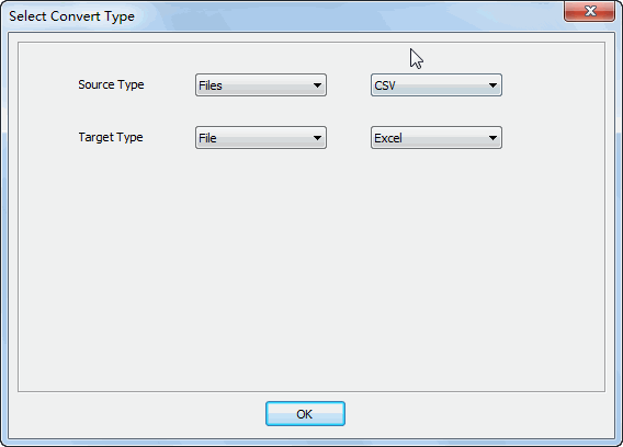 Merge multiple Csv files into one Excel file - select type