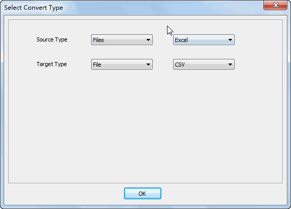 Merge multiple Excel files into one Csv file - select type