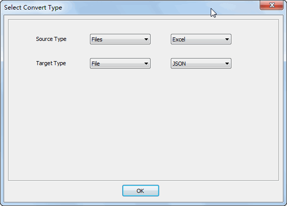 Merge multiple Excel files into one Json file - select type
