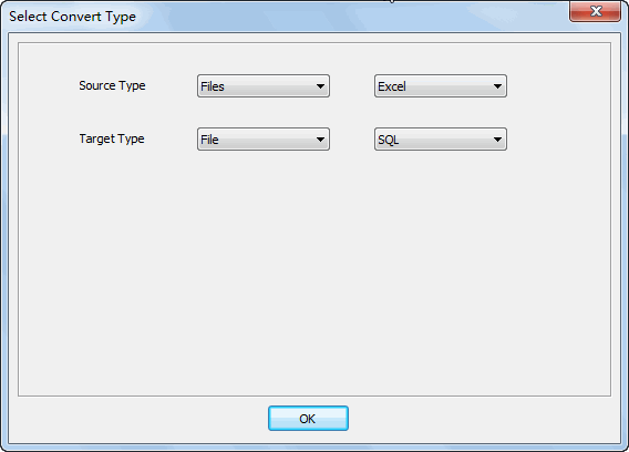 Merge multiple Excel files into one Sql file - select type