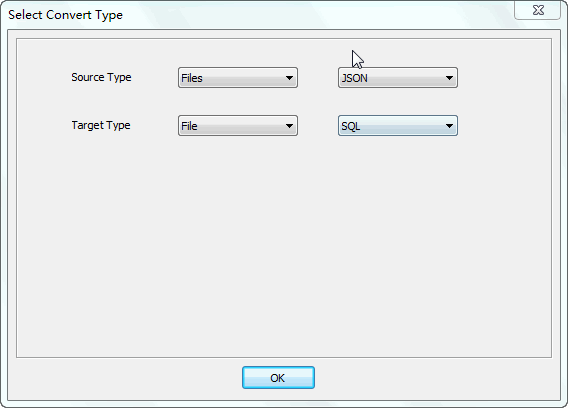 Merge multiple Json files into one Sql file - select type