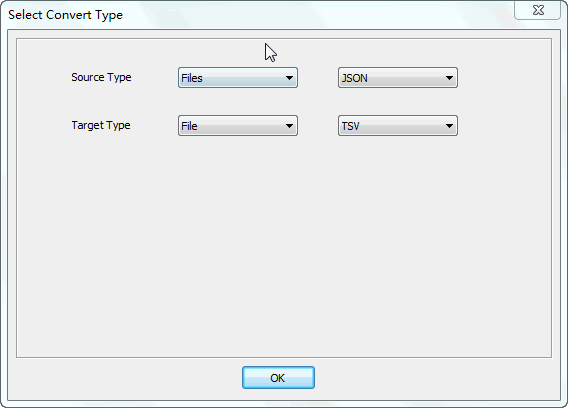 Merge multiple Json files into one Tsv file - select type