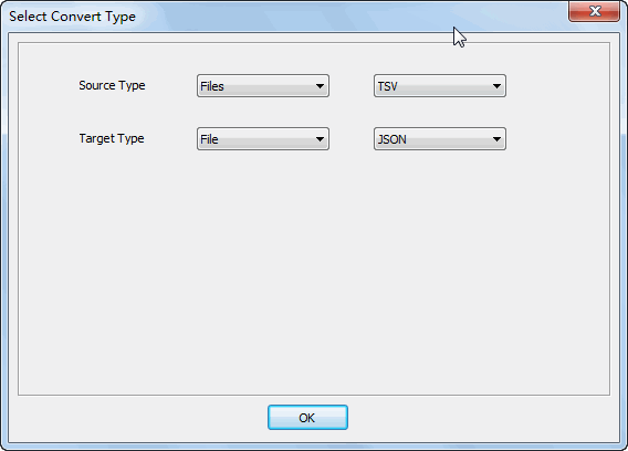Merge multiple Tsv files into one Json file - select type