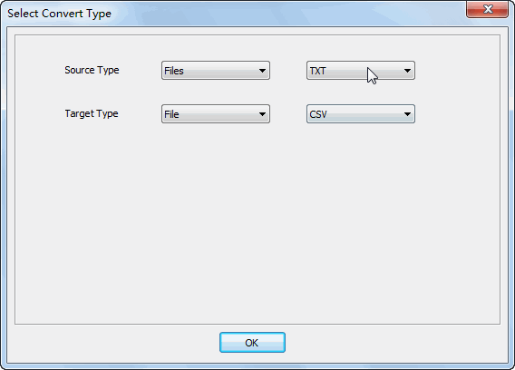 Merge multiple Txt files into one Csv file - select type