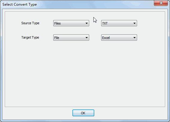 Merge multiple Txt files into one Excel file - select type