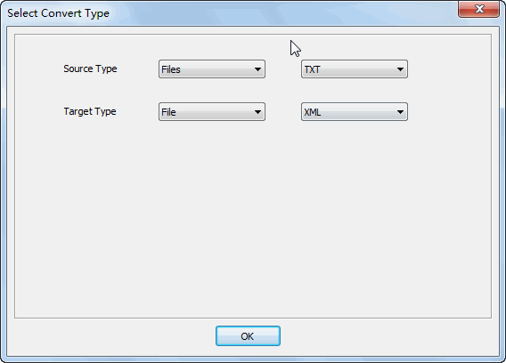 Merge multiple Txt files into one Xml file - select type