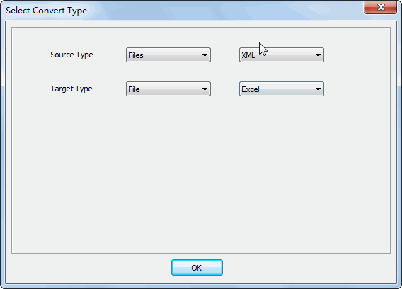 Merge multiple Xml files into one Excel file - select type
