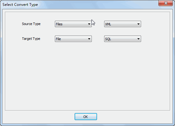 Merge multiple Xml files into one Sql file - select type