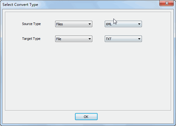 Merge multiple Xml files into one Txt file - select type
