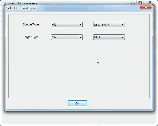 convert Txt file to Html file - select type