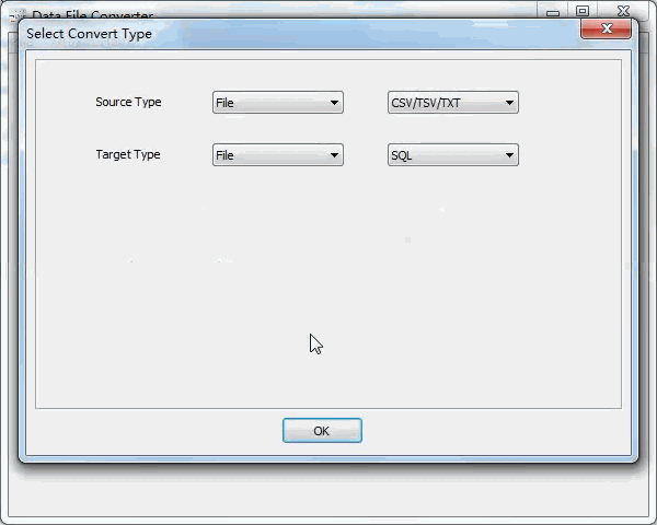 convert Txt file to Sql file - select type