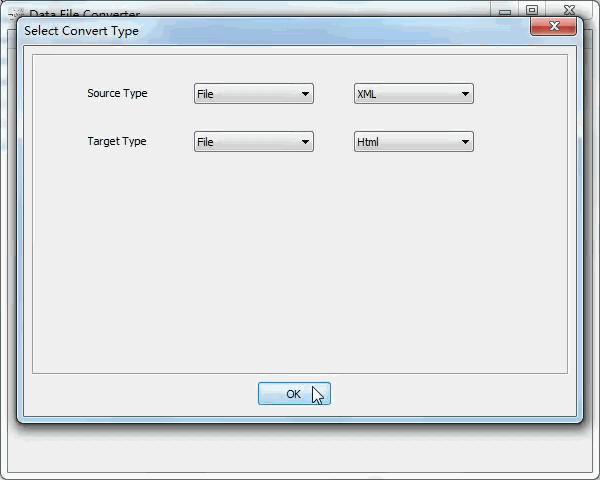 convert Xml file to Html file - select type