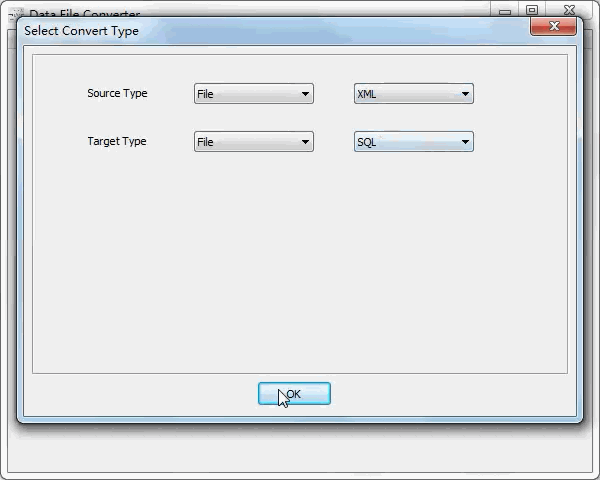 convert Xml file to Sql file - select type