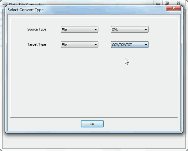 convert RDF file to Txt file - select type