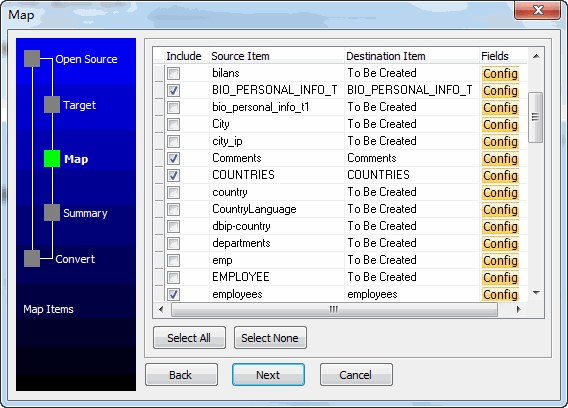 Batch import data from one Oracle tables to another Oracle - select tables