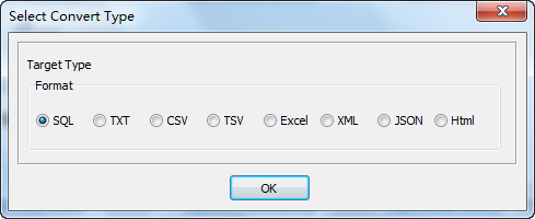 Export Query Results from Oracle Table To Sql File - select Sql file type