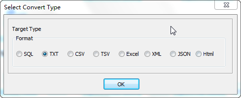 Export data from Oracle Tables To Txt Files - select Txt file type