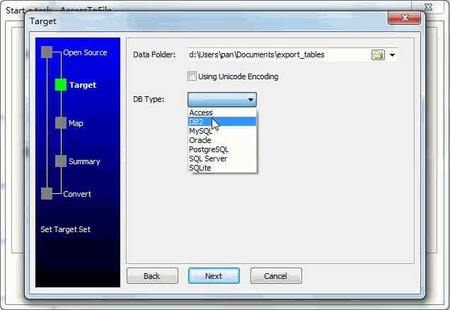 Extract data from Oracle Tables To Sql Files - enter data folder