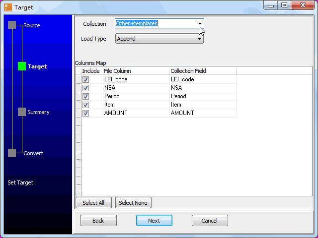 convert online CSV file to MongoDB collection - config MongoDB collection