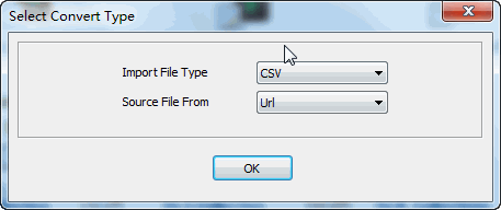 convert online CSV file to MongoDB collection - select type
