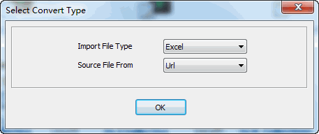 convert online EXCEL file to MongoDB collection - select type