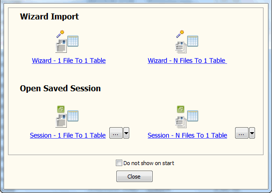 Batch import JSON files data To SQL Server - task window