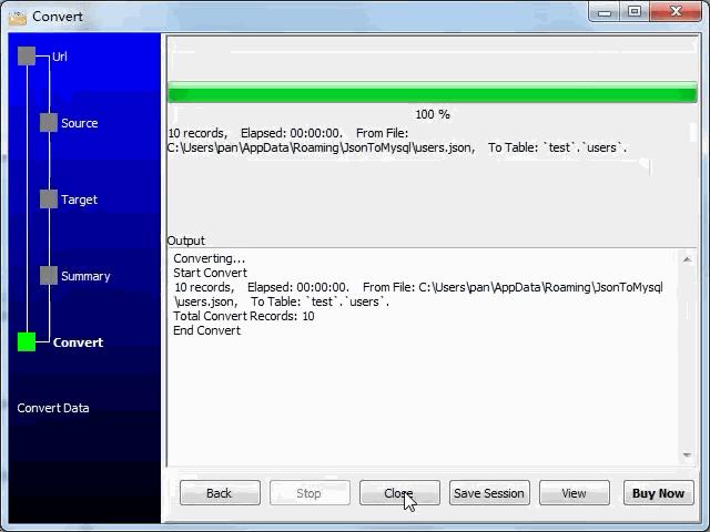 import JSON from open RESTful API to  MySQL database - import to  MySQL database