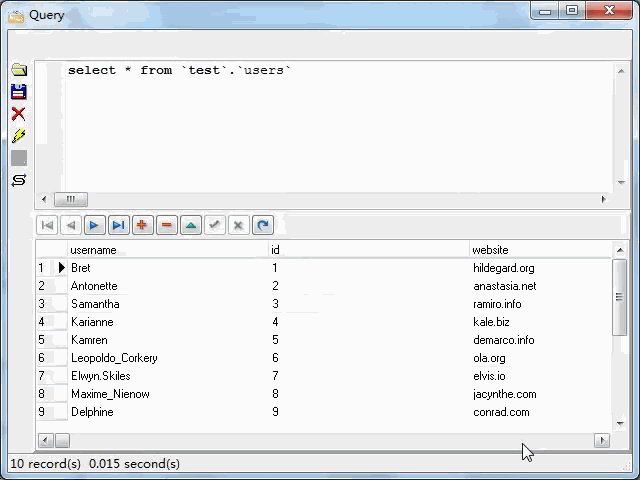 import JSON from open RESTful API to Excel file - view MySQL table