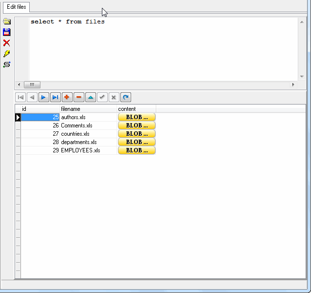 Batch import excel files into MySQL BLOB  - view